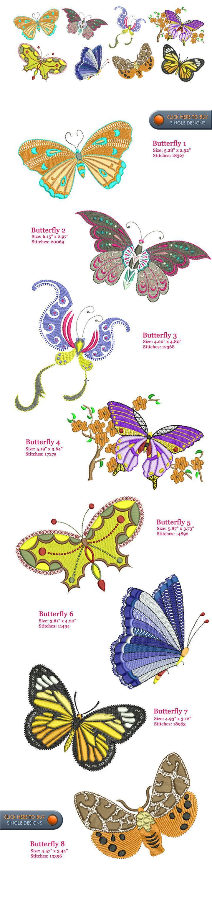 Butterfly Embroidery Designs Free Embroidery Design Patterns ...
