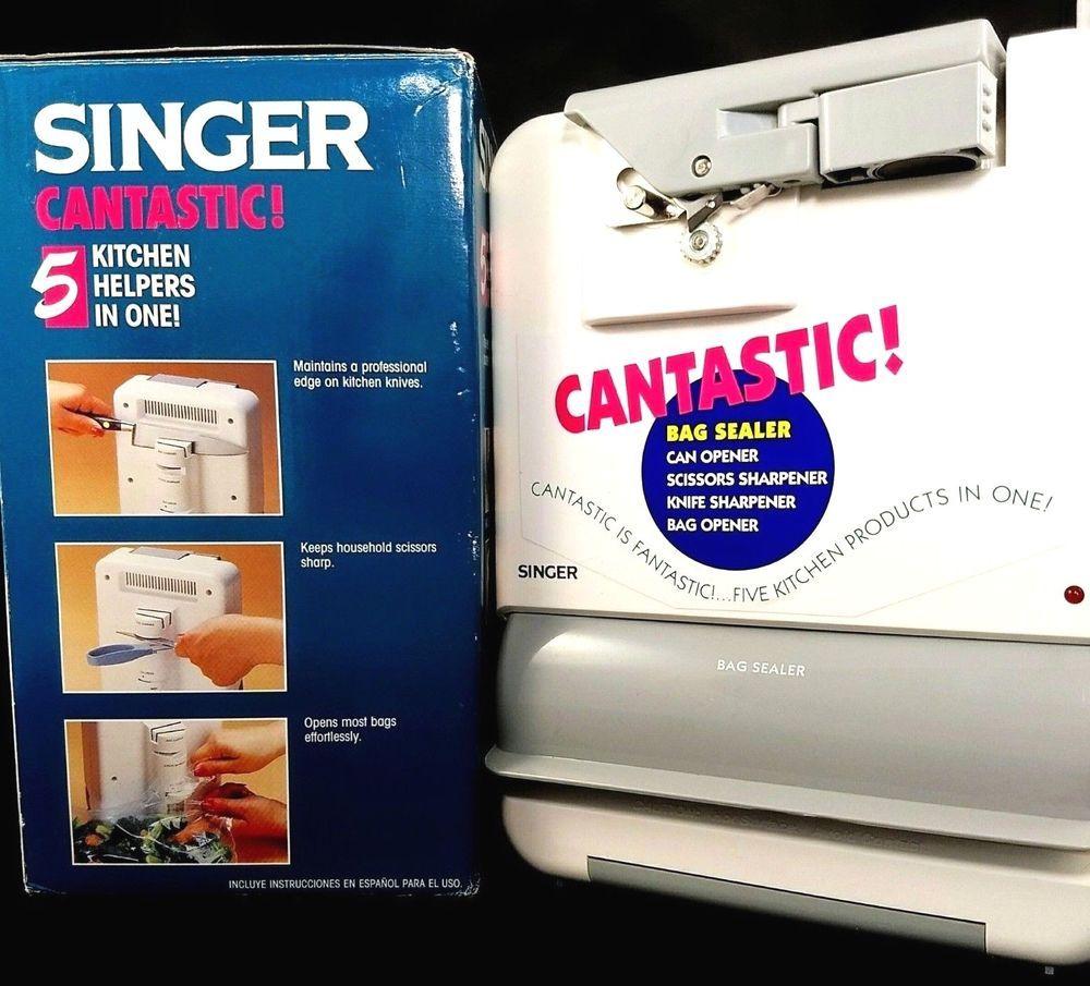 Singer Cantastic 5 In 1 Kitchen Appliance Can Opener Bag Sealer