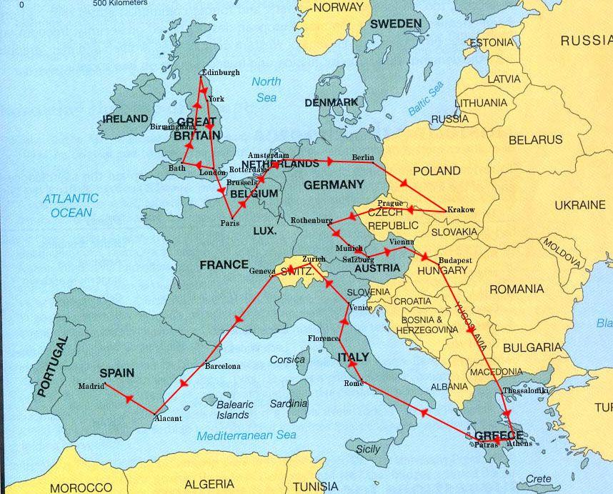 Europe map por el mundo pinterest europe map sciox Gallery