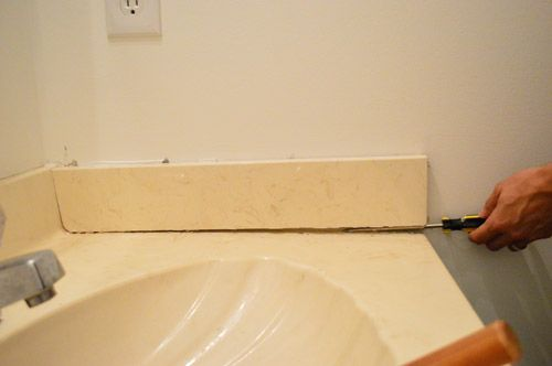 How To Get Rid Of Awkward Bathroom Counter Side Pieces