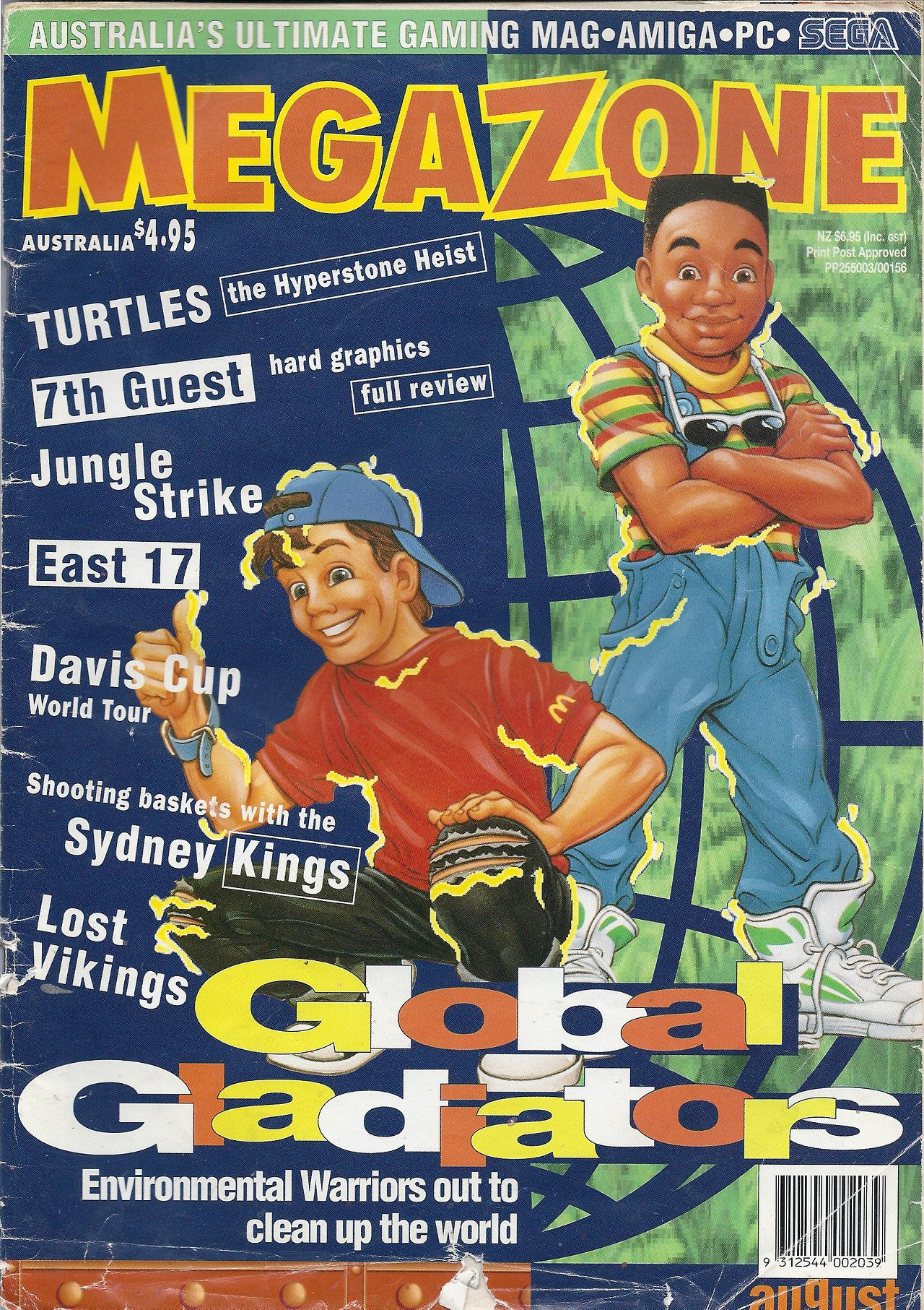 MegaZone Issue #30, August 1993 - Mick and Mack, the Global Gladiators!