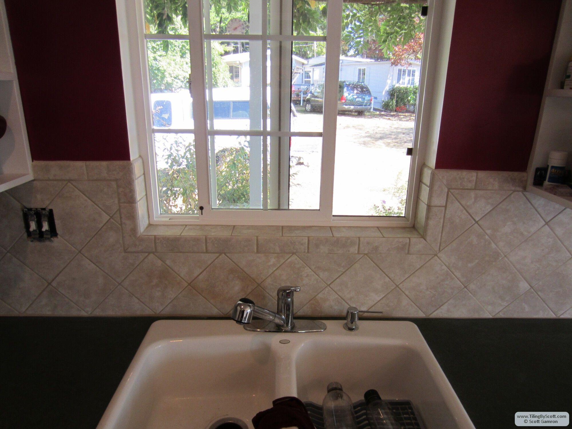 kitchen backsplashes around windows - Google Search   kitchen ...