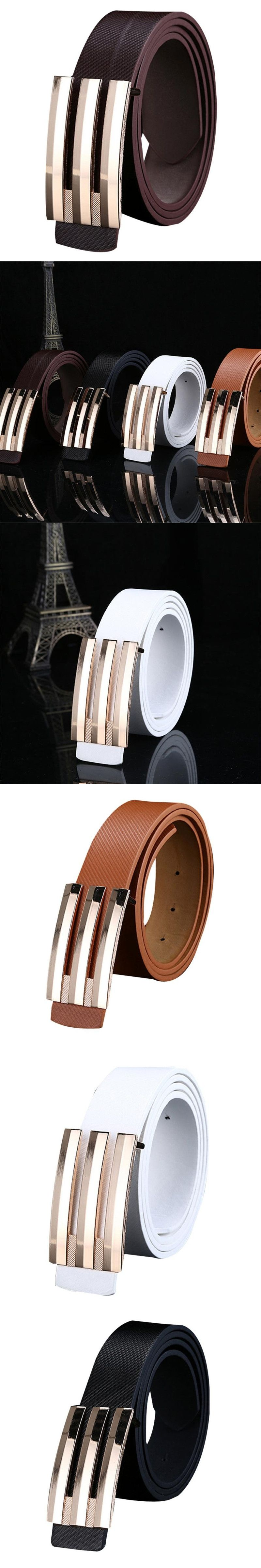 Hot Sale Especially Men Women Automatic Buckle Leather Waist Strap Belts  Buckle Belt ceinture homme cinturon 714eaa71a0d