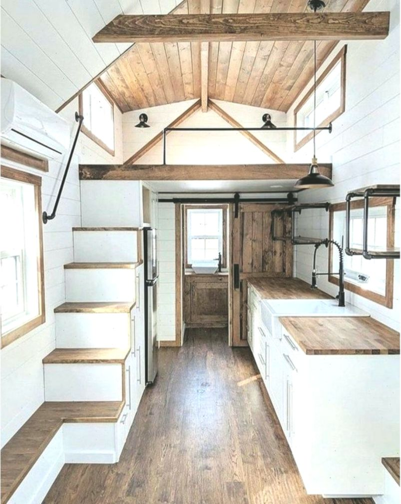 52 Modern Tiny House Plan Design That Will Inspire You Dreamhousemodern Dream Dreamhousemodernt In 2020 Tiny House Loft Tiny House Interior Design Tiny House Design