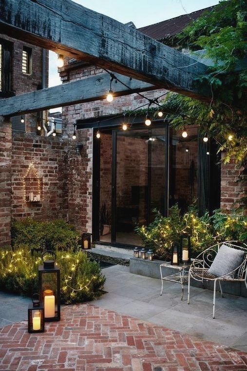 Festoon Lighting Garden Pergola