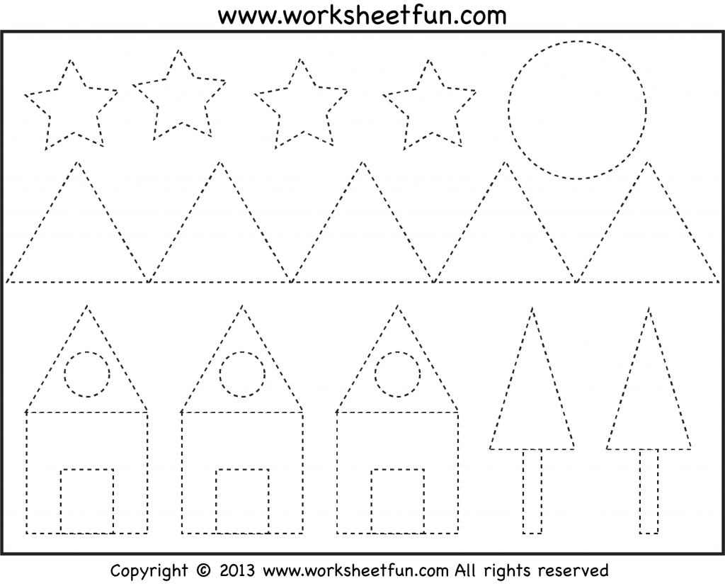 Preschool Tracing Pages