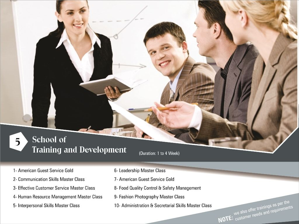 Our professionally designed, customized trainings and