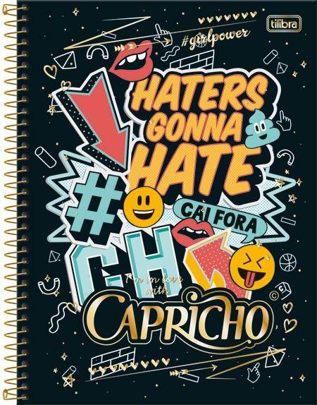 1c6cf1ac6a Caderno Espiral Capa Dura Universitário 12 Matérias Capricho 240fls ...