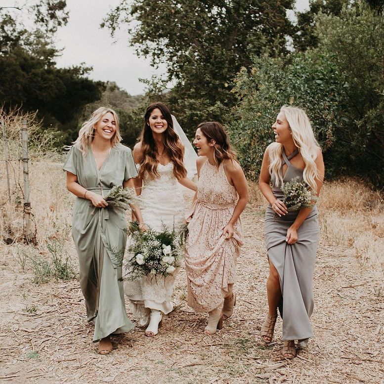 306d67bcc01 44 Long Bridesmaid Dresses That You Will Absolutely Love - mismatched bridesmaid  dress  bridesmaid