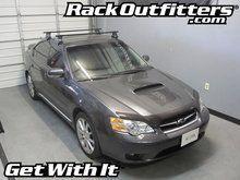 Subaru Legacy Sedan Thule Traverse Square Bar Roof Rack 05 09 Roof Rack Subaru Subaru Legacy