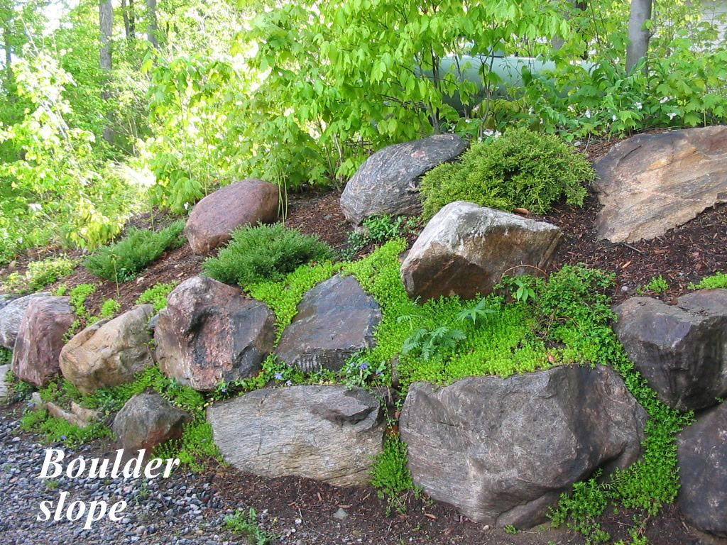 Boulders Can Stabilize A Slope Well But They Should Be Assembled