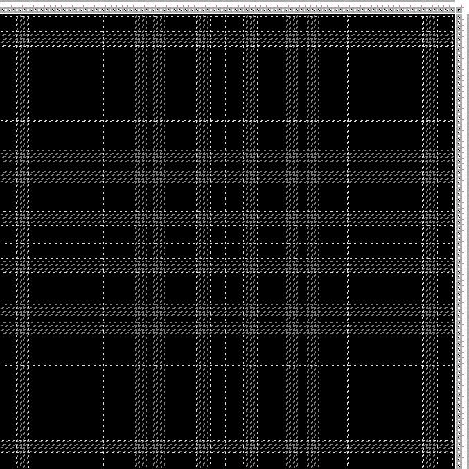 Hand Weaving Draft: Clergy (W2, BK10, W2, GY8, W2, BK52, W2