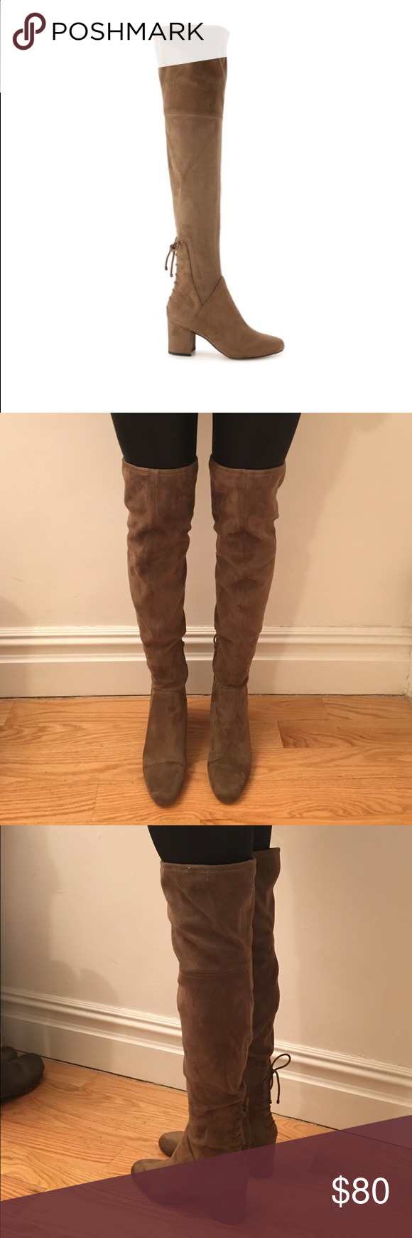 d2cdd57bc13 Aldo Adessi over the knee boots Gorgeous taupe over the knee boots.. worn  twice and in excellent condition! Selling because the top opening is too  loose on ...