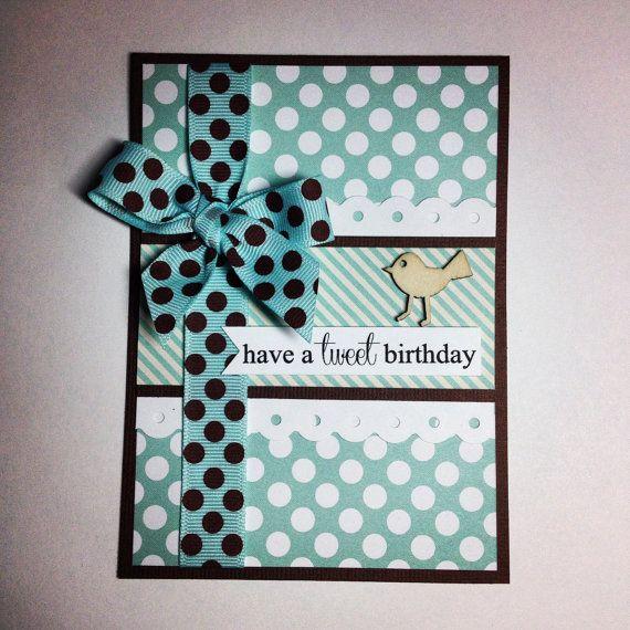 Handmade Birthday Card Custom Name Card Tweet Birthday Little