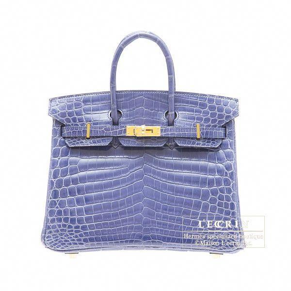Hermes Birkin bag 25 Blue brighton Niloticus crocodile skin Gold hardware   Designerhandbags 13a1263240f9d