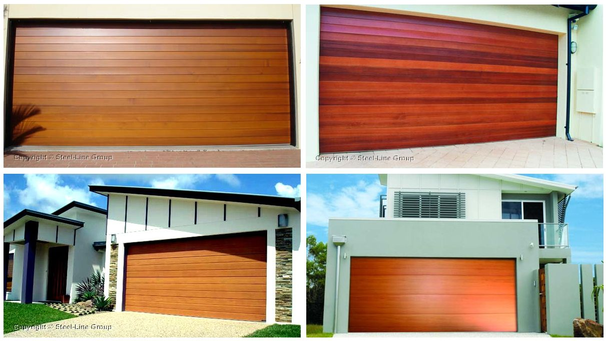 Steel-Line garage doors combine the look and feel of genuine timber with the strength & Steel-Line garage doors combine the look and feel of genuine timber ...