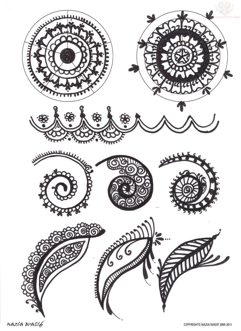 Henna Flower Pattern Simple