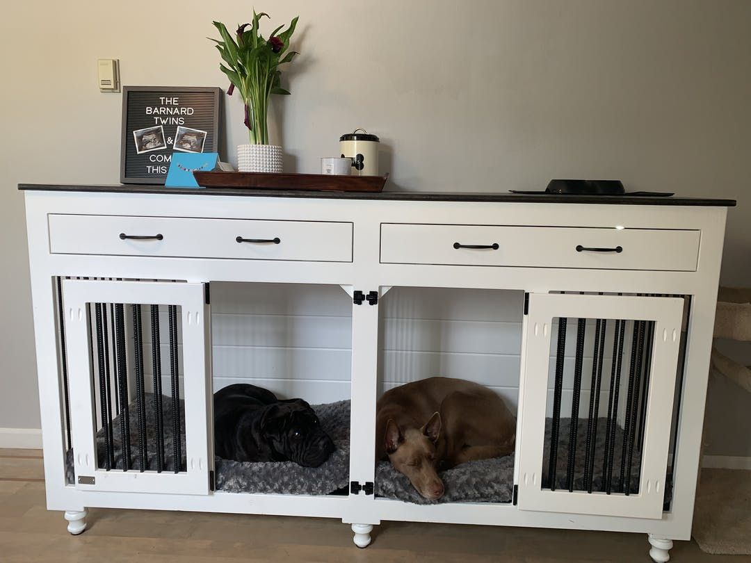 Double Doggie Den Large Dog Kennel Furniture Diy Crate