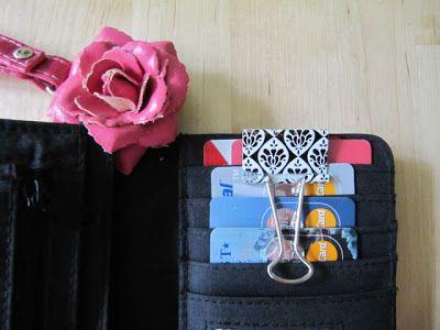 binder clip for wallet, so clever