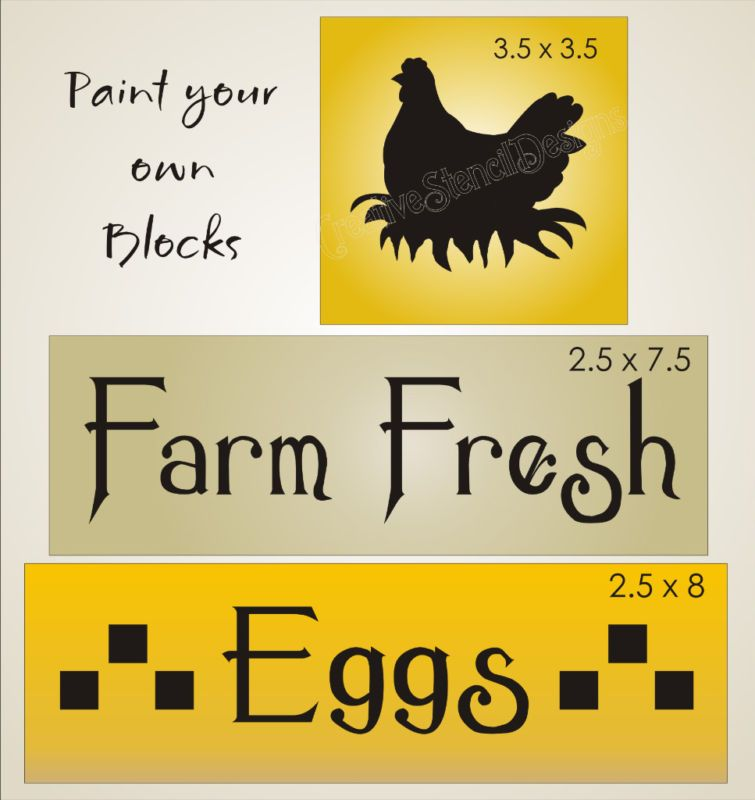 STENCIL Farm Fresh Eggs Chicken Country Kitchen Signs