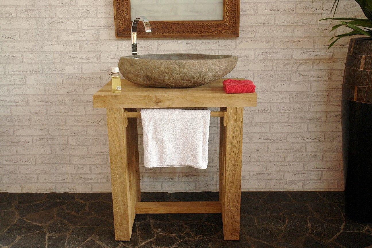 Waschtisch 75 X 50 Unterschrank Unterbau Waschbecken Badmobel