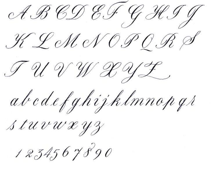 I need to make my own Calligraphy Alphabet : cursive