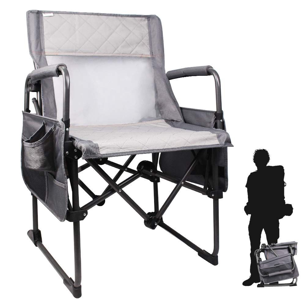 Zenree Heavy Duty Camping Folding Director S Chair Outdoor Portable New Age Outdoor Sports Chairs Traveling And Hi In 2020 Lawn Chairs Directors Chair Outdoor Chairs