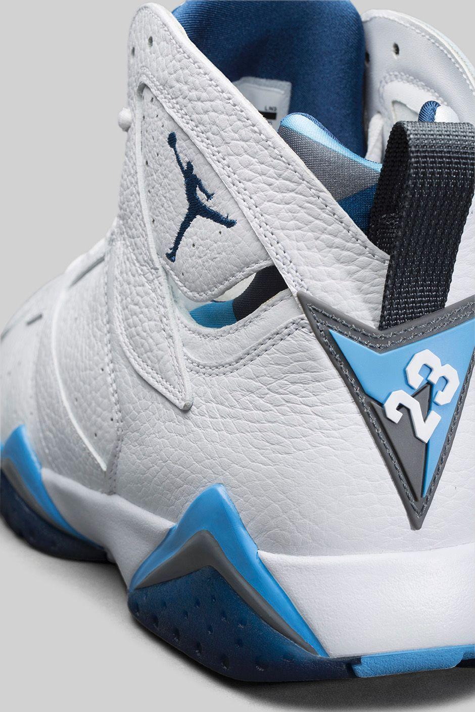 Air Jordan 7 (VII) Retro Blanc/Gris magasin