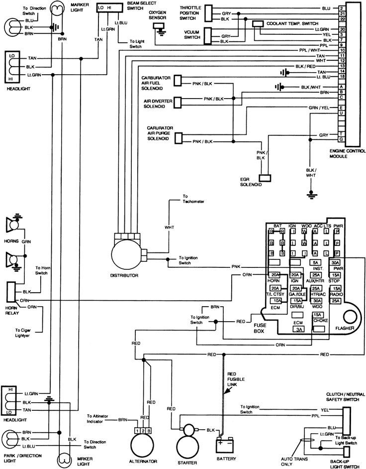 85 chevy truck wiring diagram  85 chevy other lights work
