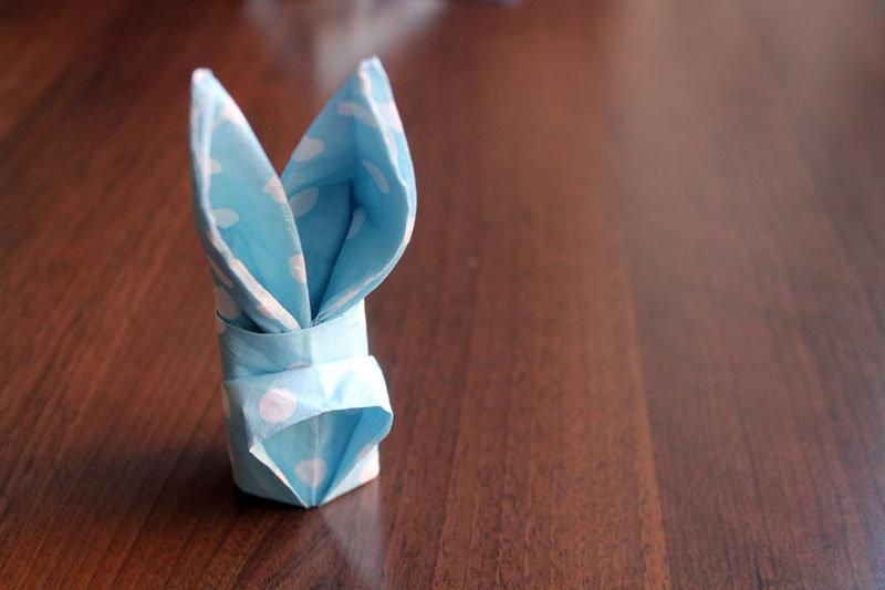 Hop To It How To Make A Paper Napkin Bunny Easter Napkins