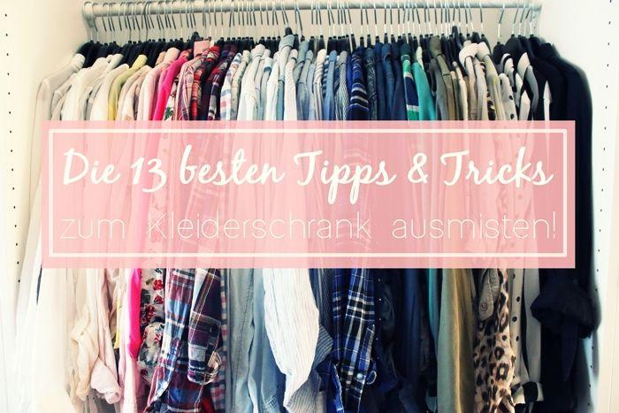 Great Die besten Tipps u Tricks zum Kleiderschrank ausmisten