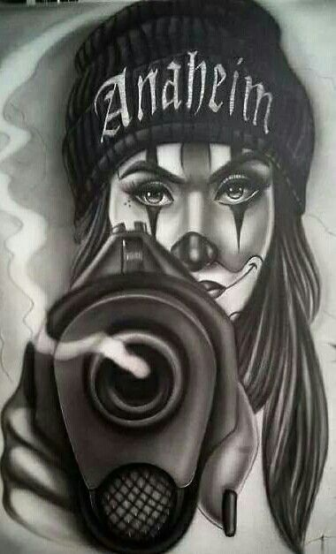 Cholo Tattoos Face: She Is The Rival Of The Other Evil Companion, They Fight