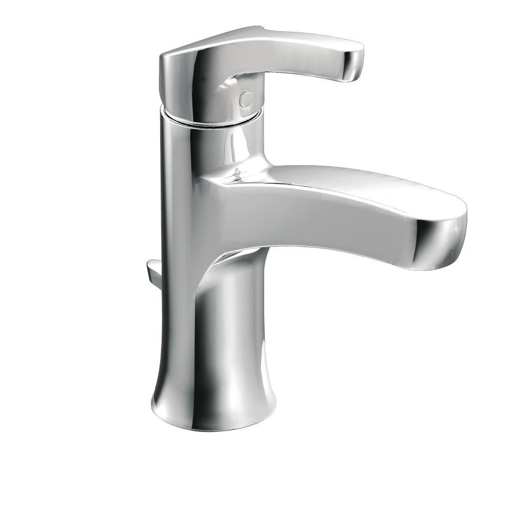 Danika Chrome one-handle high arc bathroom faucet -- WSL84733 ...