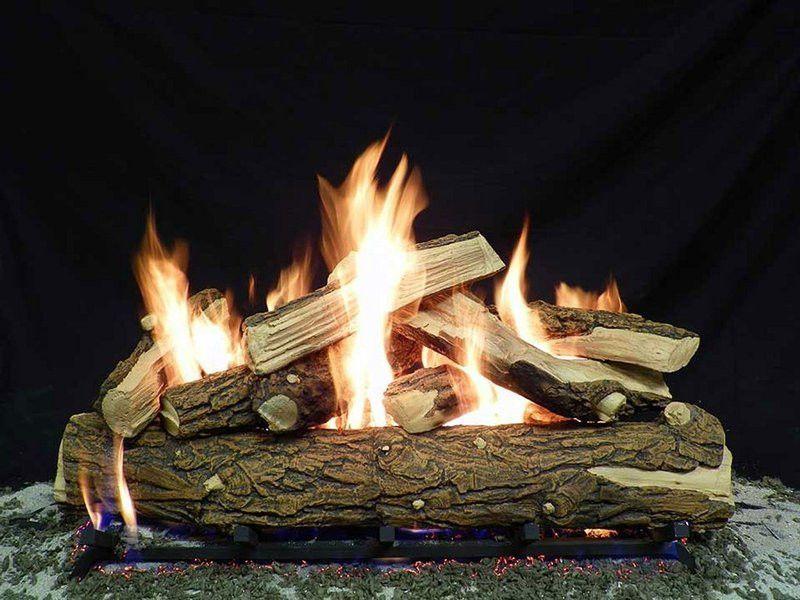 24 Split Country Oak Ceramic Gas Log Set For Fire Pits Fire Pit Fire Pit Backyard Fire Pit Logs