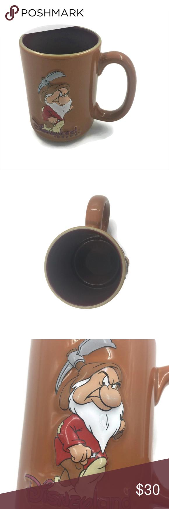 Disney Grumpy Dwarf 3D Coffee Mug Disney Grumpy Dwarf 3D Coffee Brown Mug Disneyland Resort Cup Snow White Disney Kitchen Coffee & Tea Accessories #disneycoffeemugs
