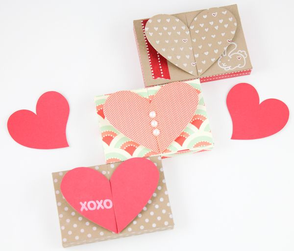 Free Valentine Gift Card Holder Heart Top Box Templates PDF – Boxed Valentines Cards