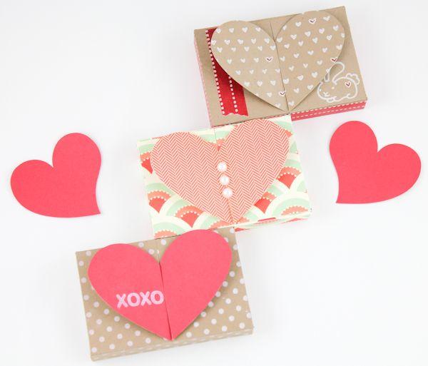Free Valentine Gift Card Holder Heart Top Box Templates PDF