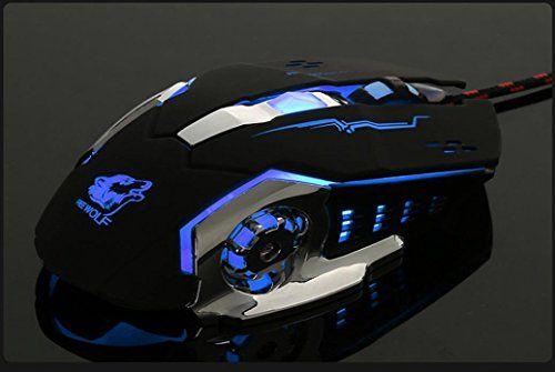 4000DPI Wired Metal LED Light Optical USB Ergonomic Pro Gamer PC Gaming Mouse s