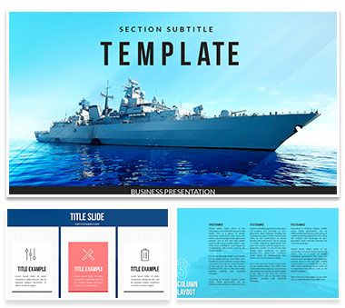 Navy, Maritime Force PowerPoint Template PowerPoint Templates