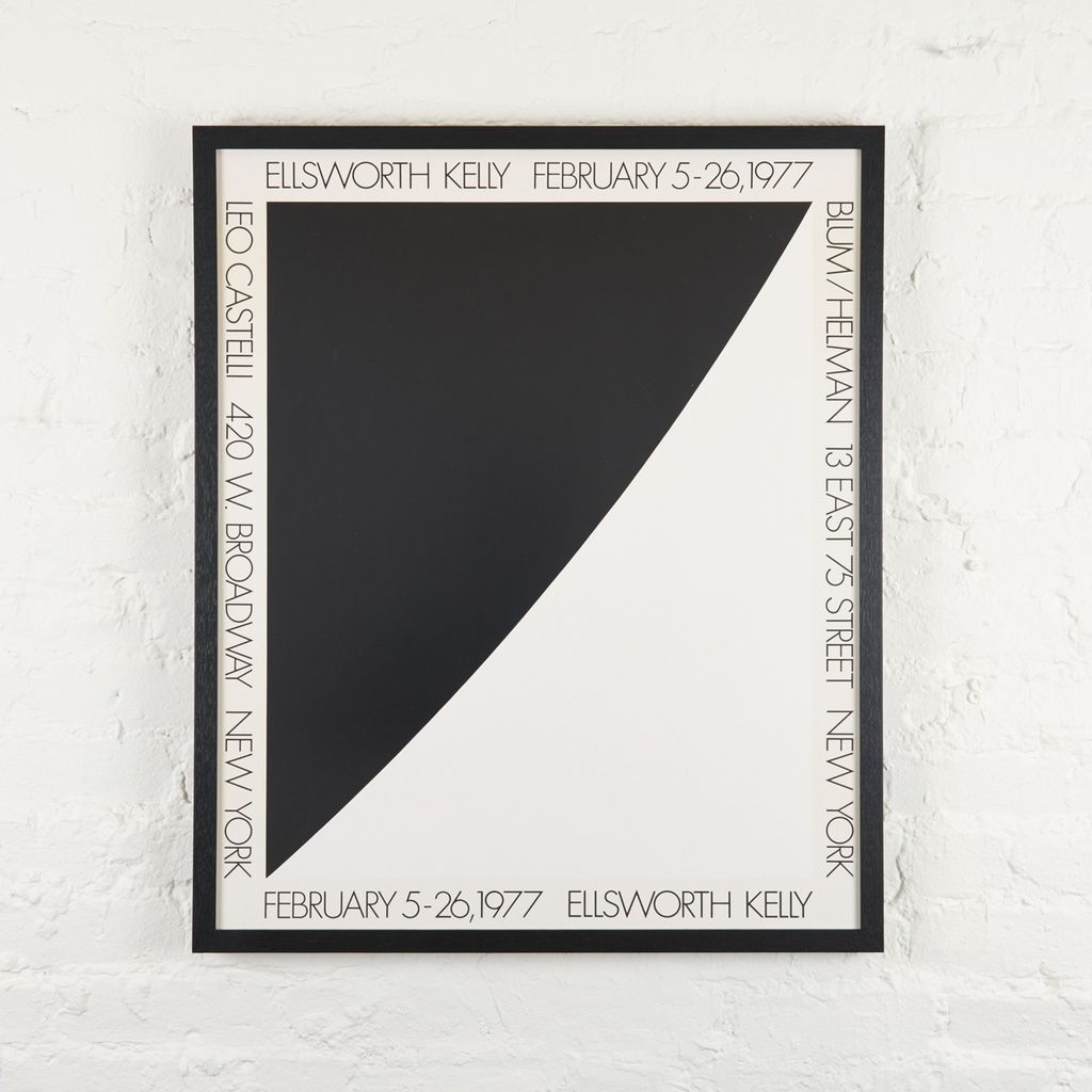 Ellsworth Kelly Leo Castelli Exhibition Poster, 1977, Framed | For ...