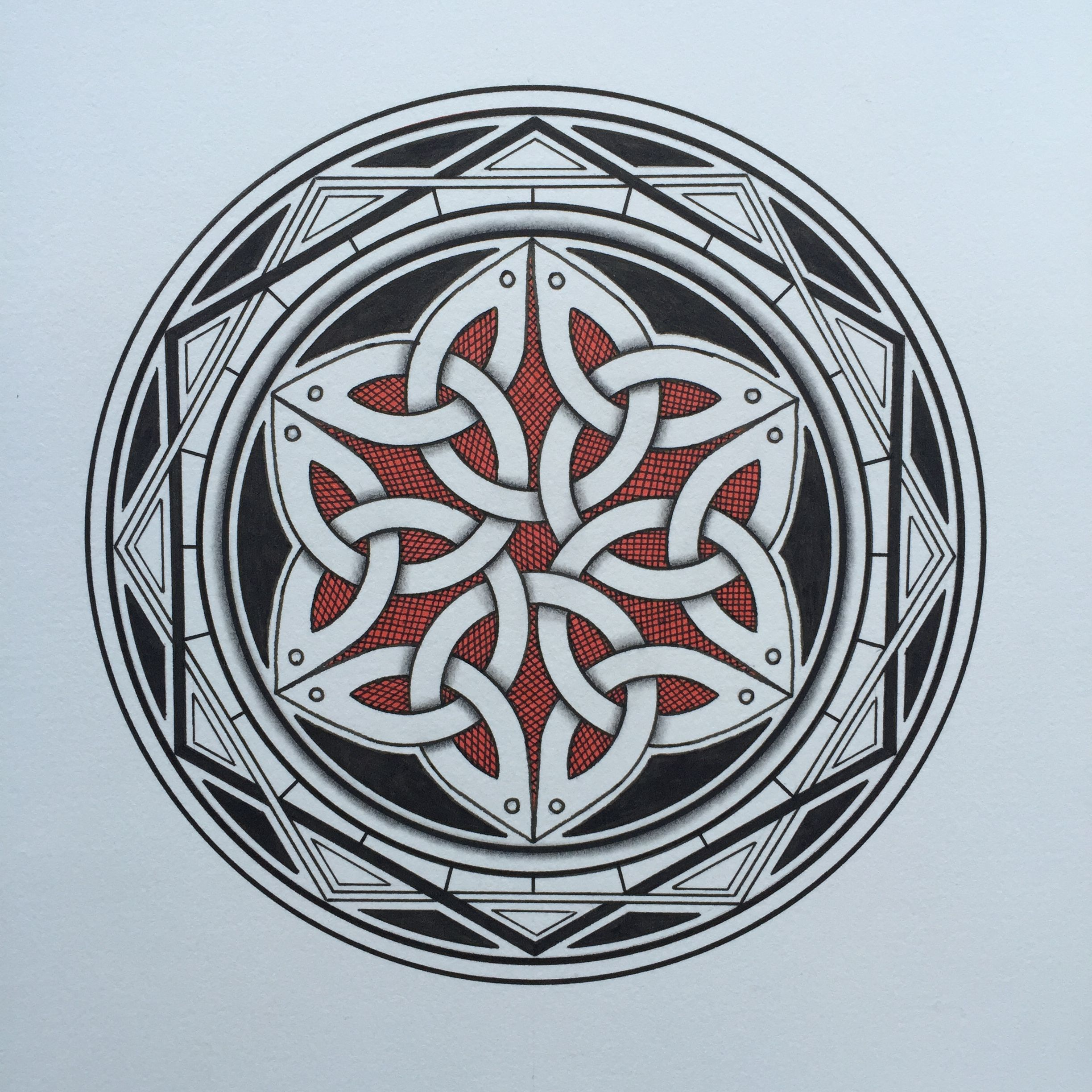 Celtic Inspired Mandala by Keith Climpson Mandala