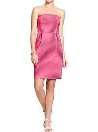Women's Strapless Jersey Dresses