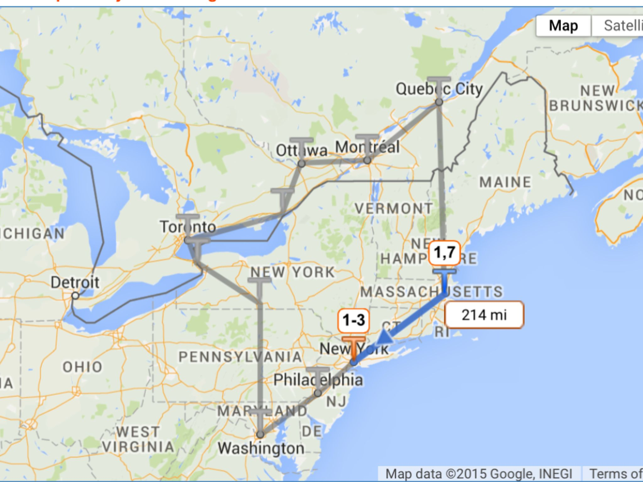 How Far Is New York From Boston >> Road Trip From Boston New York Philadelphia Washington Niagara Falls