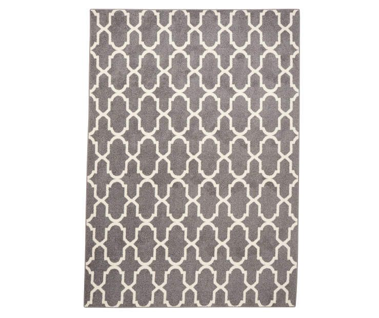 Living Colors Gray White Textured Lattice Area Rugs Grey White Rug Rugs Area Rugs