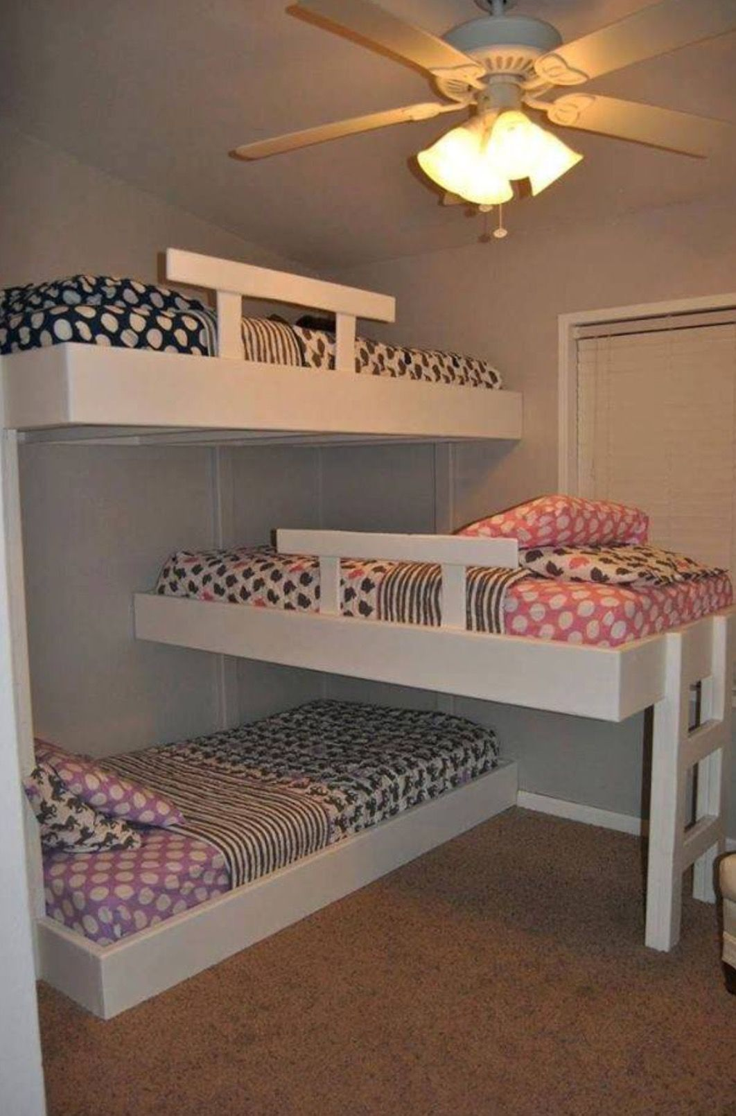 Conserving space and staying trendy with triple bunk beds chloeus