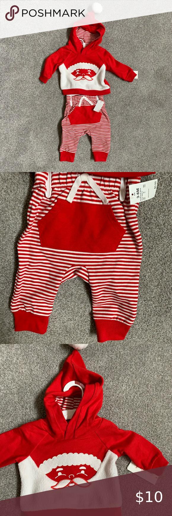 Baby Christmas Santa Set Pants and Hoodie Baby Chr