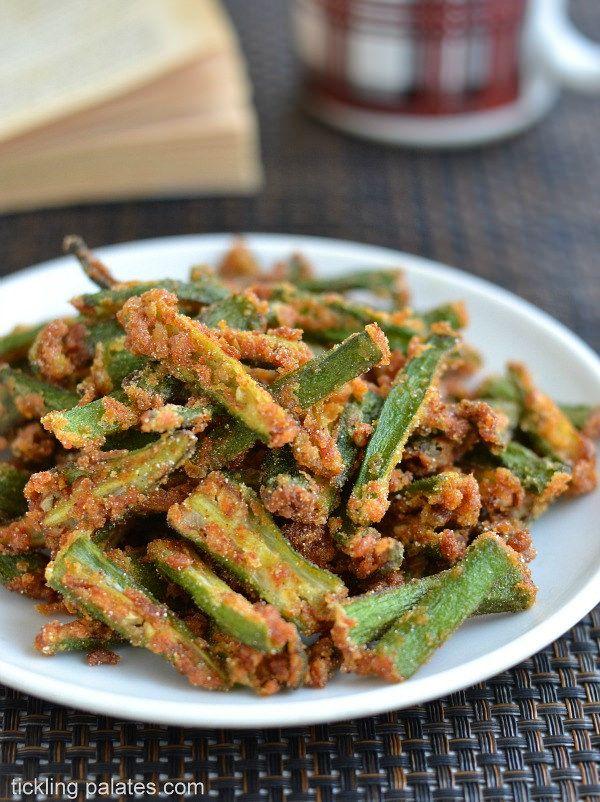 Kurkuri Bhindi Recipe Crispy Bhindi Fry