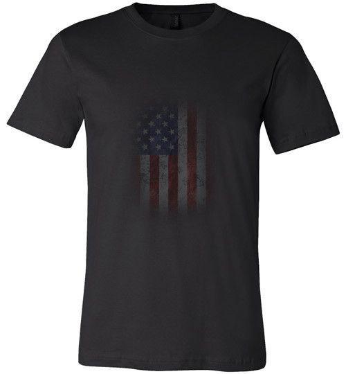 USA Flag - Canvas Unisex T-Shirt