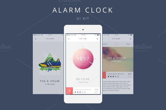 Vector Alarm Clock for Your Phone @creativework247