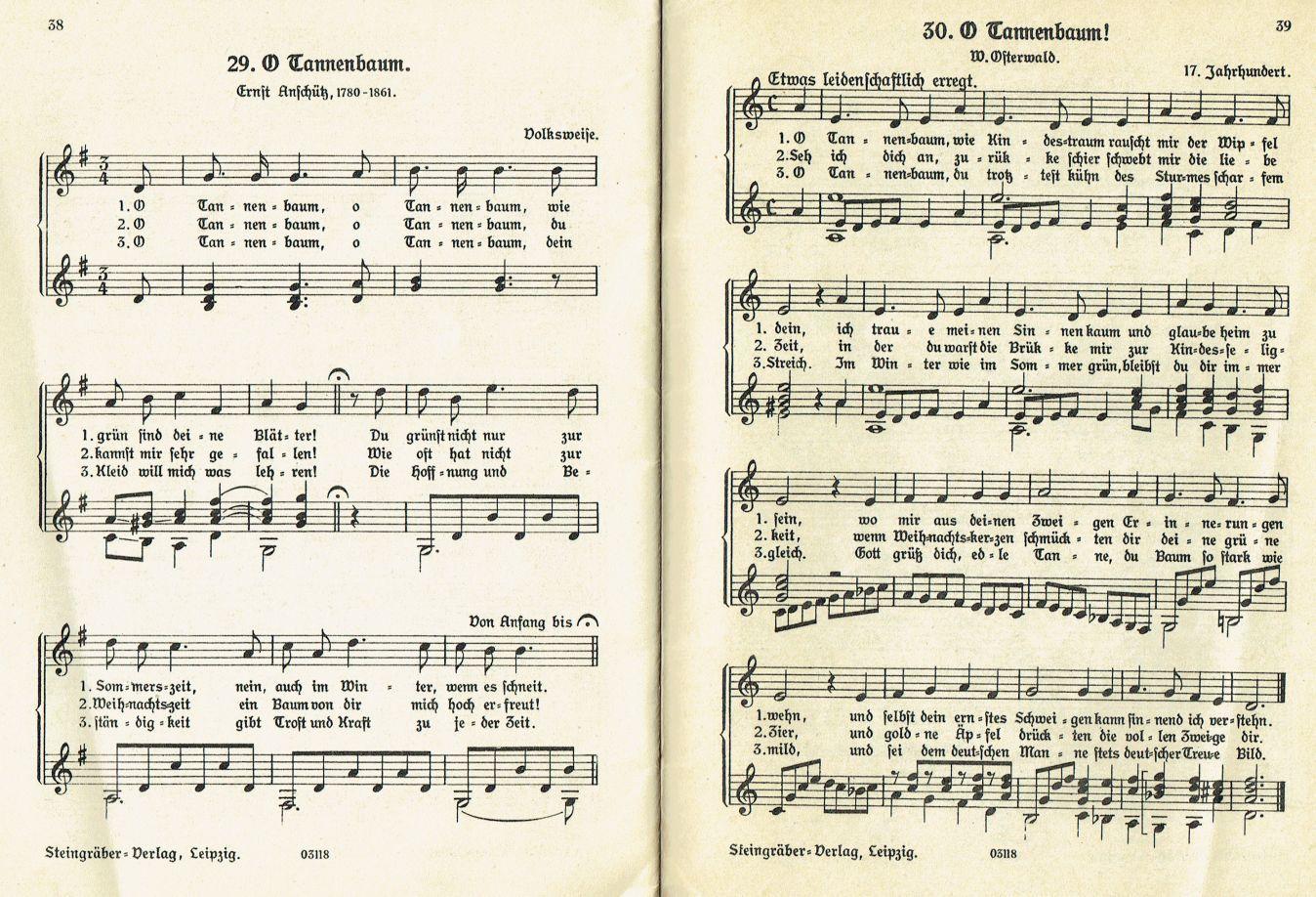Oh Tannenbaum Blockflöte.O Tannenbaum O Tannenbaum Weihnachtslieder Mit Noten Und Texten